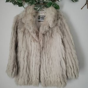 Saga Fox | Blue Fox Fur Coat | Size L/8 | EUC!